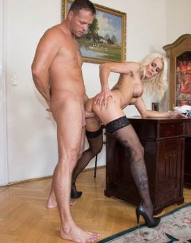 Milf Secretary Dyana Hot Fucks Her Boss in the Office-8