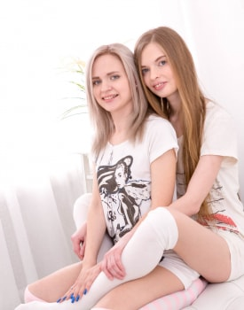 Herda Wisky and Adel Bye, horny teens moan like bitches in a threesome-0