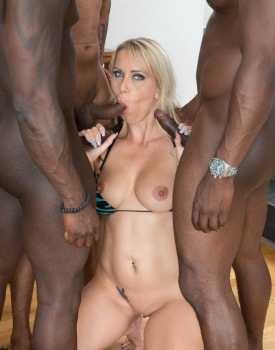 MILF Julia Pink Stars in Her First Interracial Gangbang-5