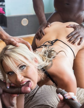 MILF Julia Pink Stars in Her First Interracial Gangbang-6