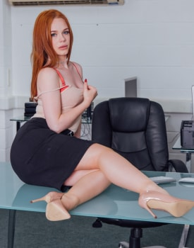 Ella Hughes Earns Her Job by Fucking the Boss-0