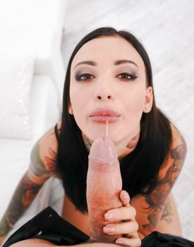 Brunette Beauty Debuts with Anal and Rimming-3
