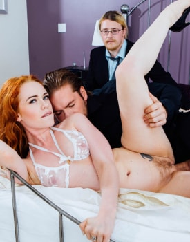 Ella Hughes' Husband Is a Cuckold Devout Who Loves Watching Sperm Spilled Over His Wife's Hairy -7