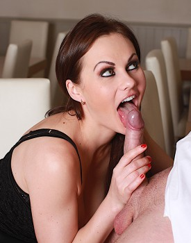 Naughty Maid Tina Kay Gets a Mouthful of Cum-6
