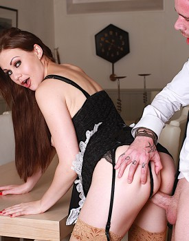 Naughty Maid Tina Kay Gets a Mouthful of Cum-8