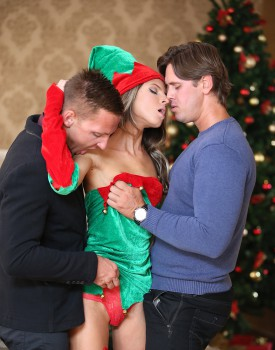 Skinny Teen Gina Gerson Gets DP For Christmas-1