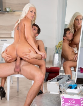 Blanche Bladburry takes hardcore anal from the hairdresser-8
